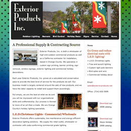 Web designer for Exterior Products Inc.