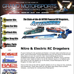 Web designer for Grand Motorsports