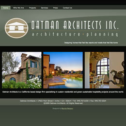 Website designer for Oatman Architects