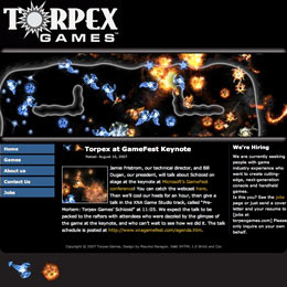 Web developer for Torpex Games