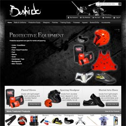 Website designer shopping cart Bushido