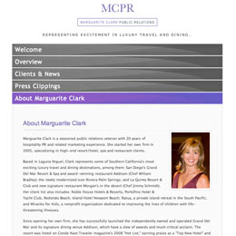 Website Developer for Marguarite Clark Public Relations