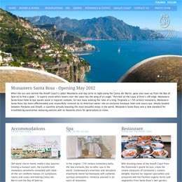 Website Designer for the Monastero Santa Rosa Resort