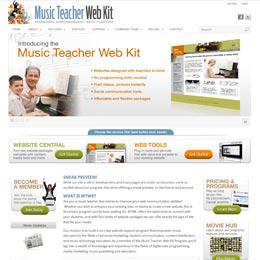 Website designer for Music Teacher Webkit