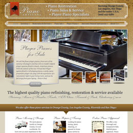 Website Designer for PianoArtisans