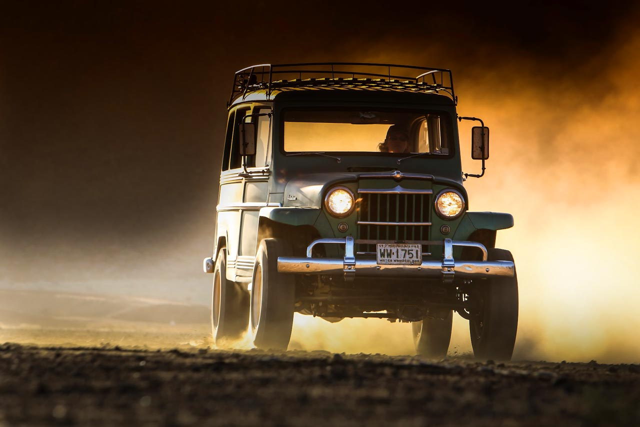 Jeep Willys Sunset Photography
